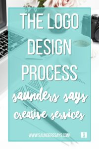 The Logo Design Process - Saunders Says Creative Services - www.saunderssays.com #graphicdesign #logos #logocreation #logodesign