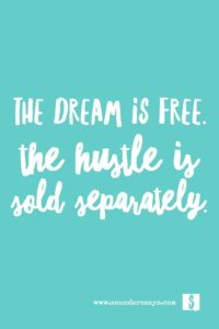 the dream is free quote saunders says