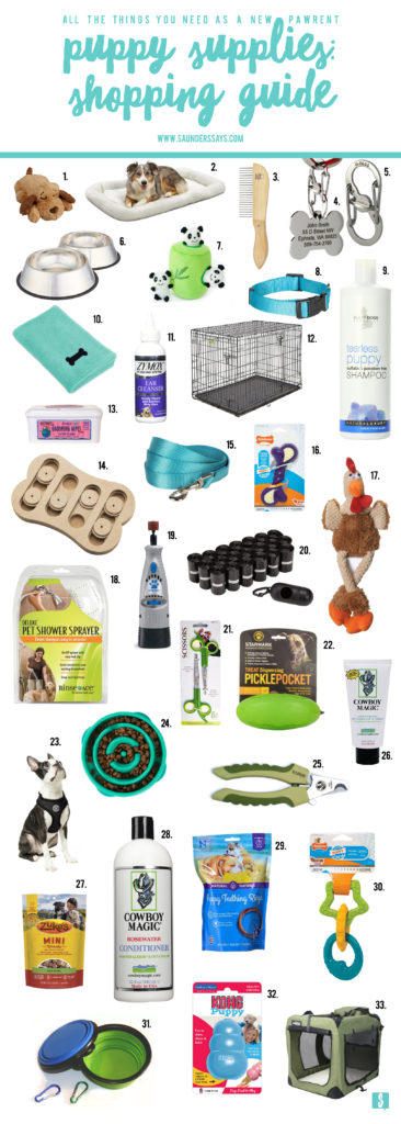 puppy supplies: a shopping guide for new pawrents - www.saunderssays.com