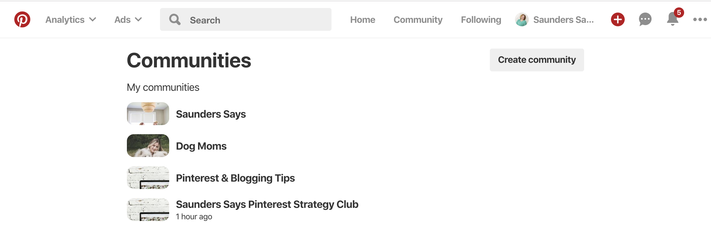 What are Pinterest Communities? How do you get Pinterest Communities? Get the details now! #saunderssays #pinterestcommunities #pinterest #pinterestmarketing #pinteresttips