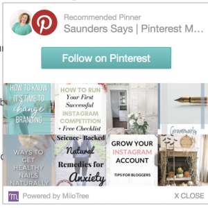 grow your pinterest followers with milotree