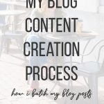 How I batch my blog content creation process and publish more blog posts! Get my step-by-step process for streamlining my blog writing. #blog #blogging #batching #contentcreation #saunderssays