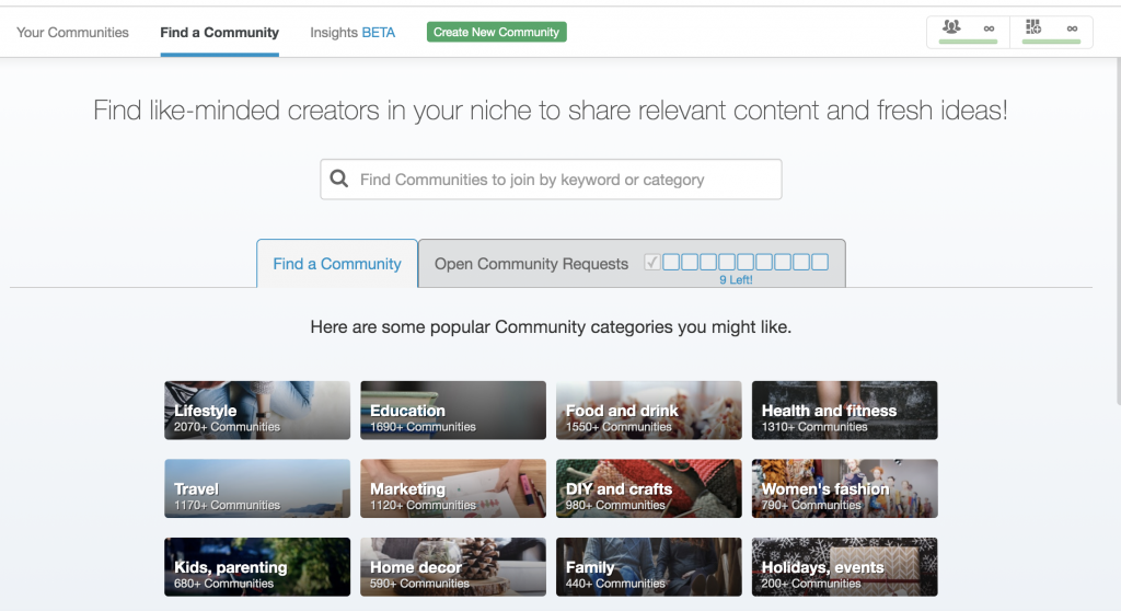 Tailwind Communities search feature to find a new community to join